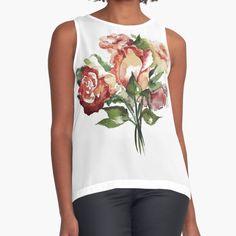 """Rosenstrauß"" von Mojart   Redbubble Tank Tops, Shopping, Women, Fashion, Sleeveless Tops, Mini Skirts, Clothing, Moda, Halter Tops"