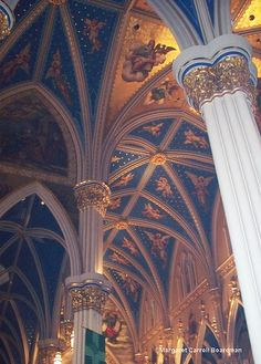 architectural detail, ceiling of the Basilica, University of Notre Dame, South Bend, Indiana. Photo: mcboardman, via Flickr