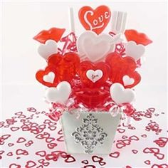 Valentine's Day Candy Bouquet Hearts for You Lollipop