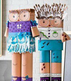 Muñecos reciclados