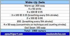 1900 meter swim workout