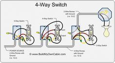 22 best light switch wiring images electrical outlets, electrical3 way and 4 way switch wiring for residential lighting