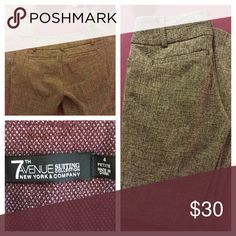 2 for $20 NY  &Co 7th Ave trousers mix and match Dress trousers. 4 colors are listed in my closet. Pair any two for $30. One brown, one black and white ( both shown above). A solid black, and the burgundy wine. (Shown in separate listings). Size 4 petite. Inseam 28 inches. Boot cut leg. 2 for $20, 3 for $ 25, or 4 for $30 Comment below which two color you are pairing for let me create a larger bundle for you! New York & Company Pants Trousers