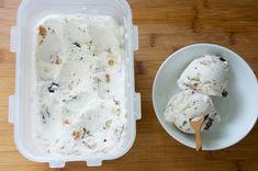 Coconut Milk Frozen Yogurt with Dark Chocolate and Toasted Almonds