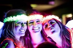 With neon being a huge trend this past year, it's no surprise that having a glow in the dark quinceanera. 15th Birthday, Birthday Parties, Neon Birthday, Neon Glow, Glow Party, Sweet 16 Parties, Paint Party, Neon Colors, Festival Party