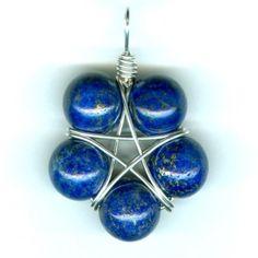 Fabulous five-point wire star pendant!