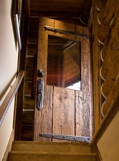 Custom wood door. I love this door