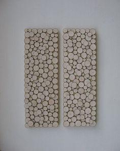 Rodaja de madera arte de la pared rústico por RusticModernDesigns