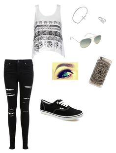 """""""Black and white outfit"""" by coicesoccerkat ❤ liked on Polyvore featuring Miss Selfridge, ALDO, Ally Fashion, Jewel Exclusive, Casetify and Vans"""