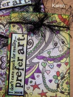 Doodle, Artist Trading Card Swaps #atc #cards