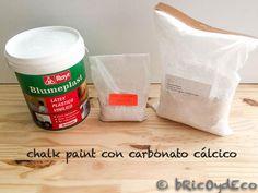 chalk-paint-casera-bicarbonato Pasta Casera, Chalk Paint Furniture, Recycled Furniture, Cold Porcelain, Diy Art, Decoupage, Latex, Diy Crafts, Fruit