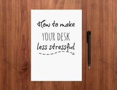 Your desk doesn't have to be a prison! Try these ten ways to effortlessly make your workspace a less stressful, more peaceful place to spend the day.