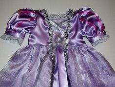 Rapunzel dress for American Girl and other 18 by KathyAnneDesigns