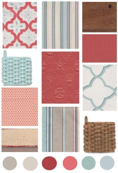 Decorating Ideas | Color Board: Coral & Aqua