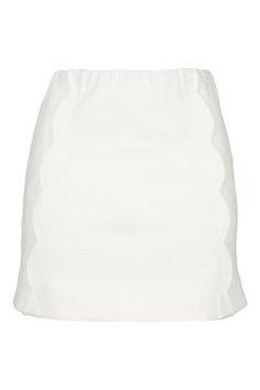 Scallop Mini Skirt