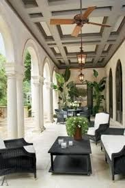 37 Stylish Patio & Outdoor Space Design Ideas Luxury Outdoor DesignStone terrace with coffered ceiling. The post 37 Stylish Patio & Outdoor Space Design Ideas appeared first on Outdoor Diy. Architectural Digest, Outdoor Rooms, Outdoor Living, Outdoor Decor, Outdoor Furniture, Black Furniture, Outdoor Kitchens, Outdoor Areas, Outdoor Fans