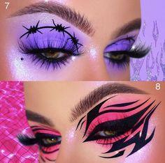 Rave Makeup, Edgy Makeup, Eye Makeup Pictures, Graphic Makeup, Makeup Drawing, Eye Makeup Designs, Pinterest Makeup, Makeup Makeover, Creative Makeup Looks