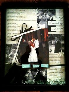 """Wedding Shadow Box - first dance picture with lyrics in background. """"You and Me Together"""" by Dave Matthews"""