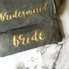 How gorgeous are our bride and bridesmaid pyjama tops?! 😍👰🏼They are perfect for the pre-wedding sleepover and can be added to any of our bespoke bridal packages ✨ 💖💐• • •    #giftbox #weddinghamper #engagementgift #gift #giftideas #giftsforbrides #personalised #bride #bridesmaids #weddinggifts #weddingbox #thewedbox #bridetobe #rockmywedding #henparty #bemybridesmaid #weddingeve #bridesmaidgifts