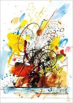 Drawing of the Jo Siffert Fountain in Fribourg by Jean TINGUELY