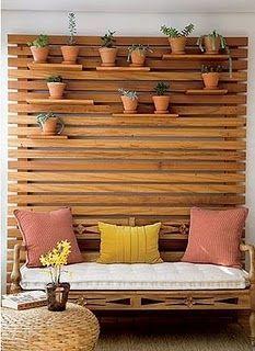 trennwand garten innenhof treppe haus garten terrasse sichtschutz balkon pflanzen
