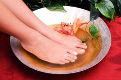 at home foot Detox   1Cup Sea Salt   1 Cup Epsom salt   2 cup baking soda  Mix and use 1/4 cup in as hot as you can stand water
