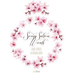 Sakura Wreath and Bouquet. Spring blossom. Hand от ReachDreams