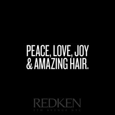 Our well wishes for you next year! Amazing hair makes for an amazing year. Check out Redken products, and find your hair match made in heaven!