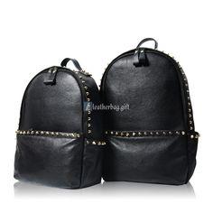 Stylish Leather Backpack for Men Black Rucksack