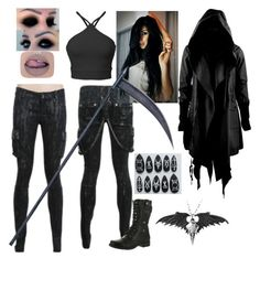 """Untitled #1183"" by elisacaruanakelly ❤ liked on Polyvore featuring ...Lost, Reneeze and Rune NYC"