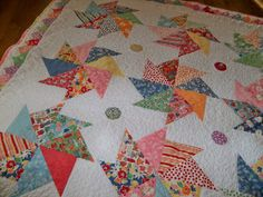 Prairie points, pinwheels and dolly dresses  ~ by A Quilting Sheep