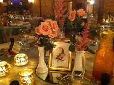Lovely romantic tabletop decor @ DeStarte' Wedding Barn www.destarteweddingbarn.com