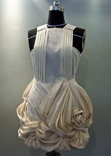 "Elena Fashion Design Workshops : Draping project: ""Flower"" skirt (samples in muslin)"