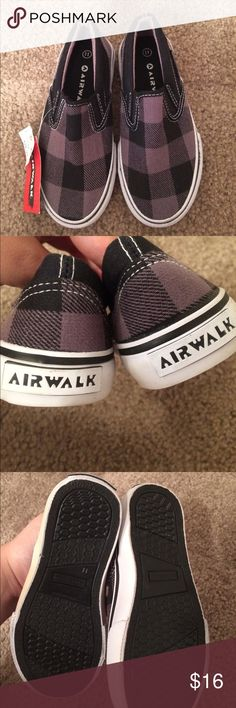 "$13 nwt air walk slide on shoes 11t NWT! ✔The price in the beginning of the title of my listings is the bundle price. These prices are valid through the ""make an offer"" feature after you create a bundle. These bundle orders must be over $15. Ask me about more details if interested.  ❌No trades ❌No holds Air Walk Shoes Sneakers"