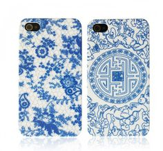 Blue and white chinese porcelain Iphone case.