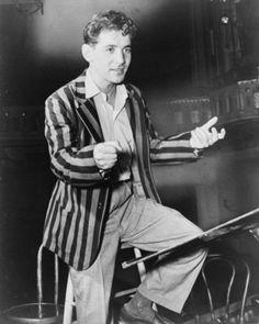 A jovial Bernstein   1945