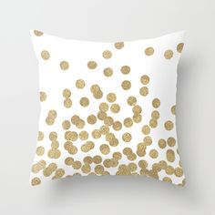 Buy Gold Glitter Dots in scattered pattern by CharlotteWinter as a high quality Throw Pillow. Worldwide shipping available at Society6.com. Just one of…