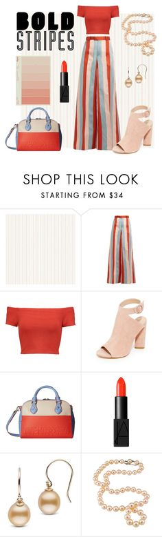 """Bold Stripes"" by legoalibri on Polyvore featuring RED Valentino, Alice + Olivia, Kendall + Kylie, Love Moschino, NARS Cosmetics, Summer, chic, stripes and bold"