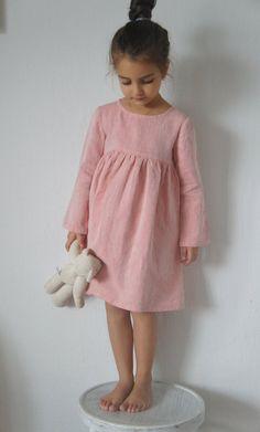 Leinenkleid Leinen Mädchen Kleid Leinen Kleinkind von emyandpears