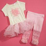 Pink Lace Flower Leggings - Infant, Toddler & Girls