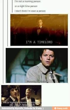 Doctor Who, Supernatural and Sherlock