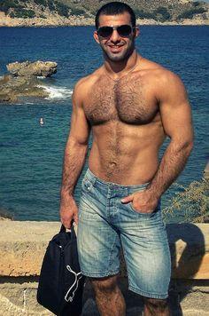 Beard Boy, Beard No Mustache, Hairy Men, Bearded Men, Middle Eastern Men, Men Beach, Hairy Chest, Fine Men, Man Photo