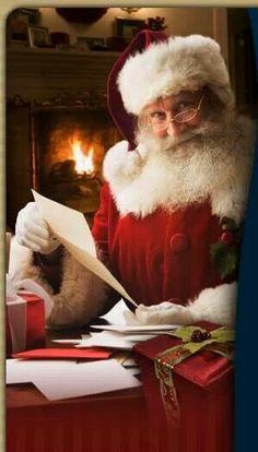 Santa checking his list!!