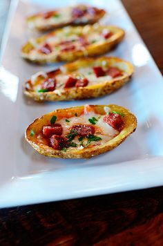 Pizza Potato Skins. Fill em with any pizza topping you want!