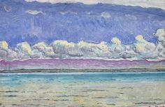 Ferdinand Hodler ( 1853 – 1918) was one of the best-known Swiss painters of the nineteenth century. His early works were portraits, landscapes, and genre paintings in a realistic style. Later, he adopted a personal form of symbolism he called Parallelism.
