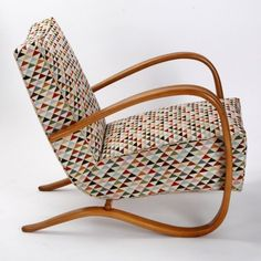 Model H - 269 Arm Chair by Jindřich Halabala for Spojene UP Zavody