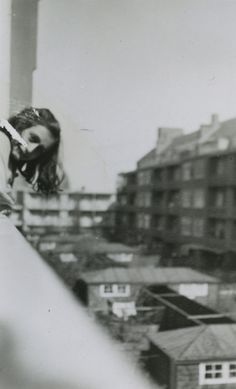 A very rare photo of Anne Frank. Merwedeplein, Amsterdam, May 1941