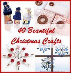 Over 40 wonderfully festive winter and Christmas crafts to choose from via www.redtedart.com