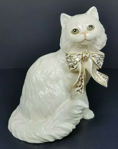Lenox Holiday Kitty Tuxedo Cat with Gift Box Figurine NEW IN BOX