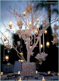 Wedding Decorations White or Ivory Manzanita Wedding Centerpiece Trees no bases - Manzanita Wedding, Manzanita Branches, Branches Wedding, Tree Branches, Painted Branches, Wedding Table, Rustic Wedding, Trendy Wedding, Garden Wedding